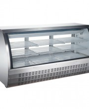 Gravity coil refrigeration system provides high humidity environment for exceptional preservation of meats and deli products. Refrigeration system holds 32°F to 43°F (0°C to 6°C)