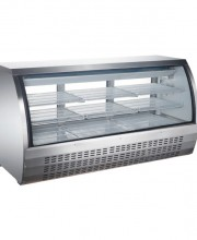 "82"" CURVED GLASS DISPLAY REFRIGERATED SHOWCASE, MODEL DC-82"