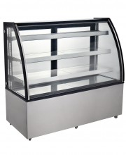 "72"" CURVED GLASS REFRIGERATED BAKERY SHOWCASE MODEL CD-72-3C, COLDCO"