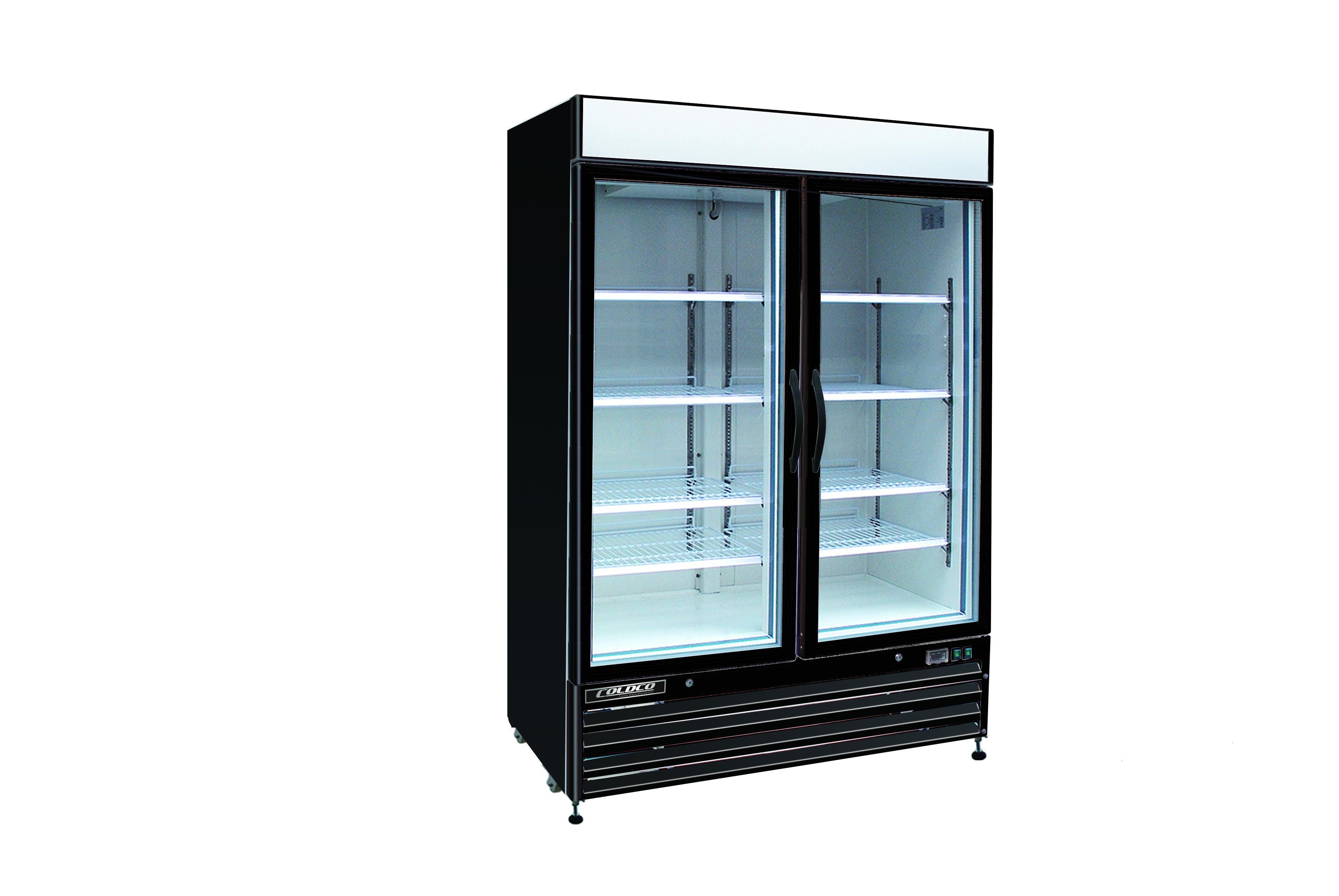 Toronto refrigeration and freezer retailer of hussmann true bgd series model bgd 48fdv black 54 coldco 2 door glass freezer vertical glass door 115208 230v black exterior planetlyrics Choice Image