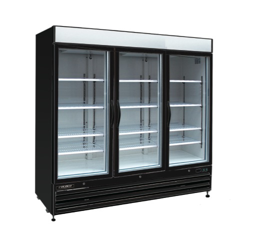 Toronto refrigeration and freezer retailer of hussmann true bgd series model bgd 72r black 3 door refrigerator swing glass door black exterior planetlyrics Images