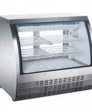 DC48 - CURVED GLASS STAINLESS STEEL DELI DISPLAY