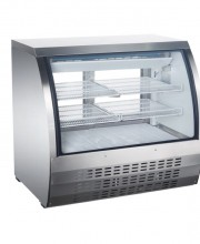 "48"" CURVED GLASS DISPLAY REFRIGERATED SHOWCASE, MODEL DC-48"