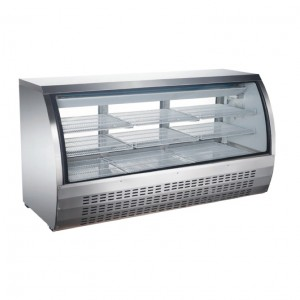 82″ CURVED GLASS DISPLAY REFRIGERATED SHOWCASE, MODEL DC-82