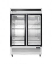 BGSS GLASS 2-DOOR MERCHANDISER, STAINLESS STEEL