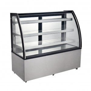 72″ CURVED GLASS REFRIGERATED BAKERY SHOWCASE MODEL CD-72-3C, COLDCO